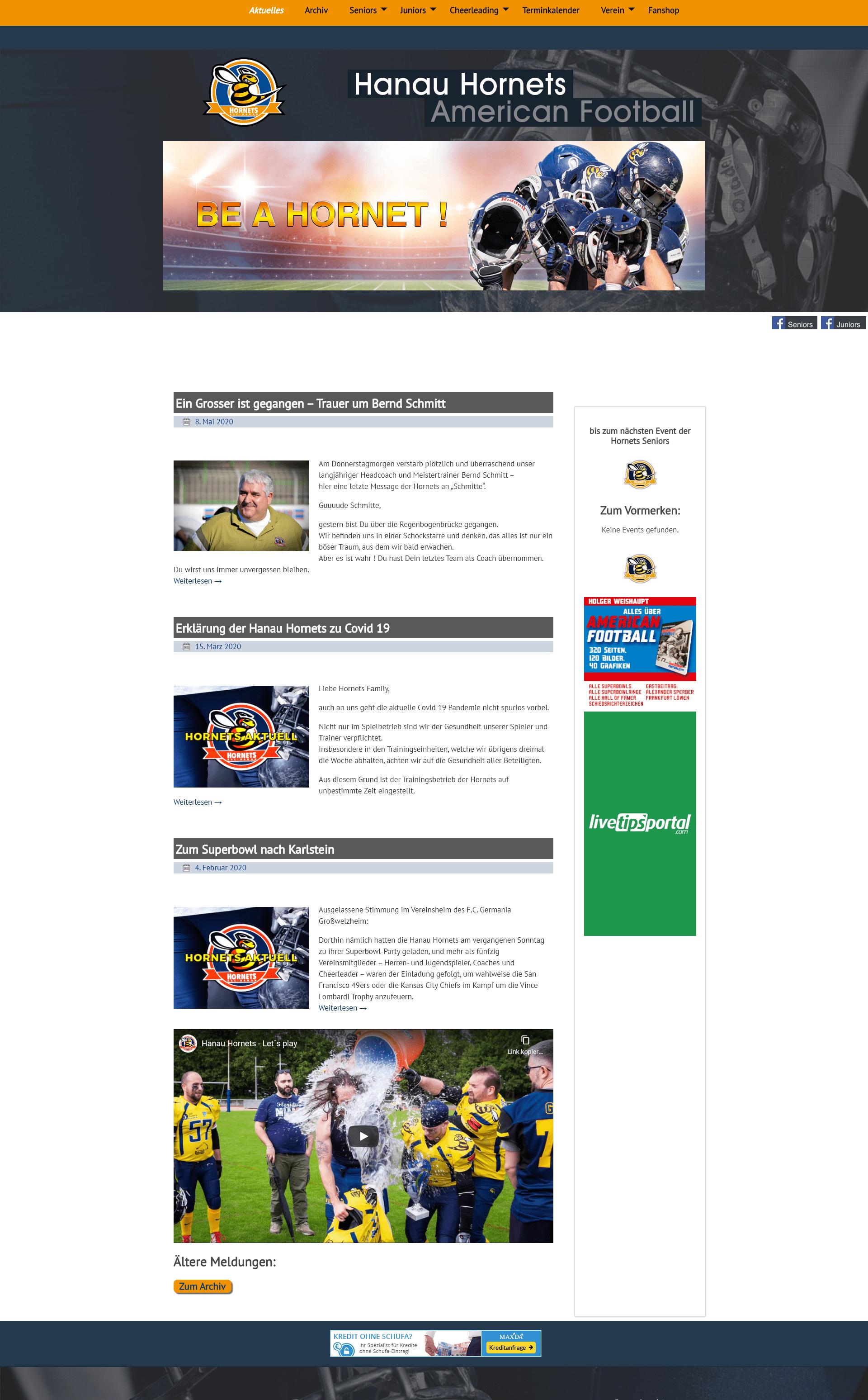 Hanau Hornets website
